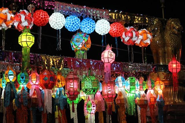 Les lanterns pour la déco en Thailande