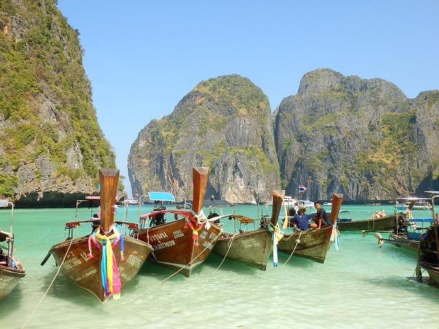 Les bateaux à Krabi en Thailande